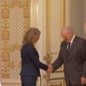 Fundur með Lukashenko forseta Hvíta Rússlands