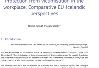 European Equality Law Review: Hefnd með einelti