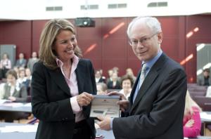 EWLA President with Mr Herman Van Rompuy President of the European Council