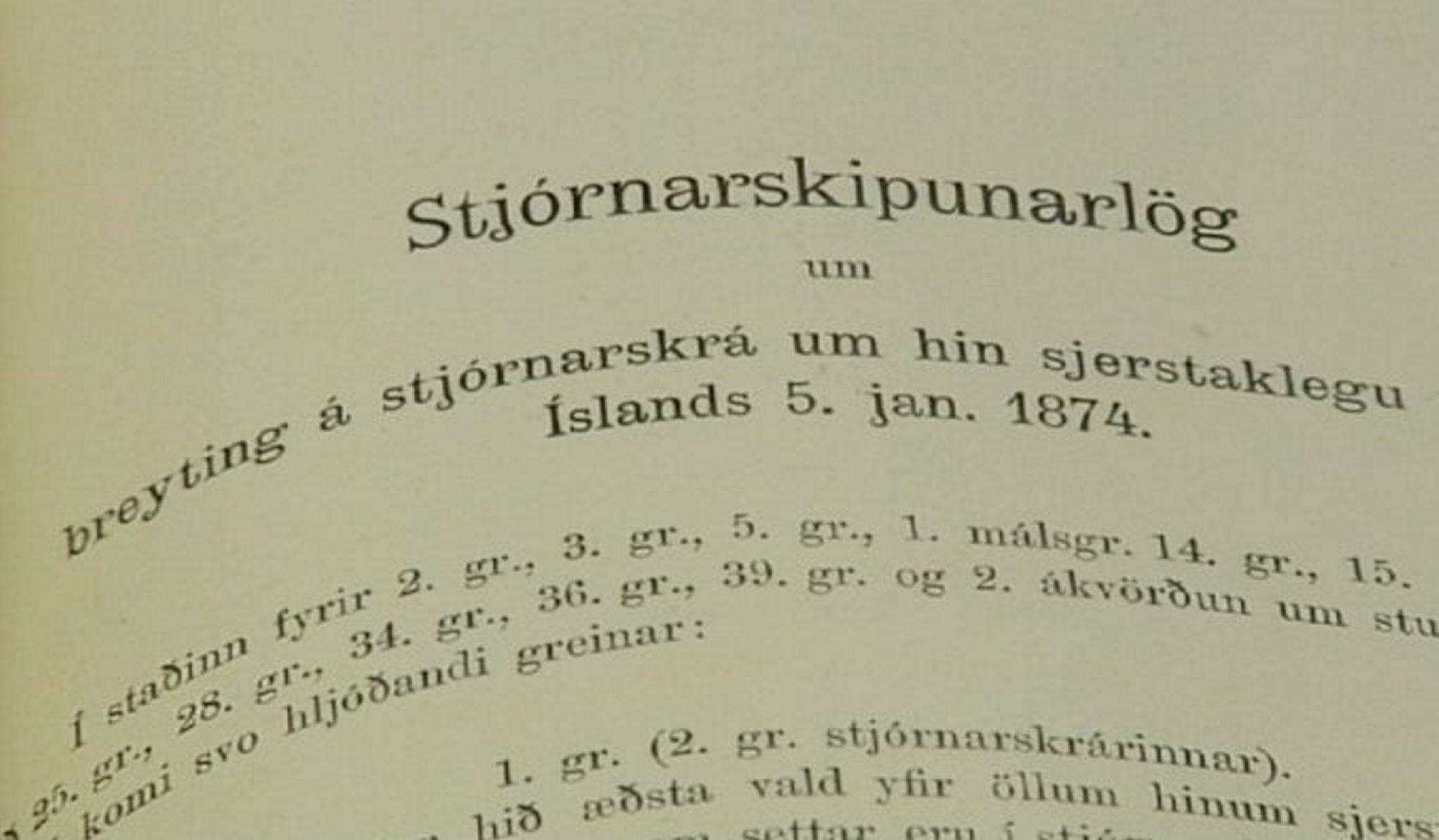 Stjórnarskrárnefnd birtir drög að þremur nýjum stjórnarskrárákvæðum