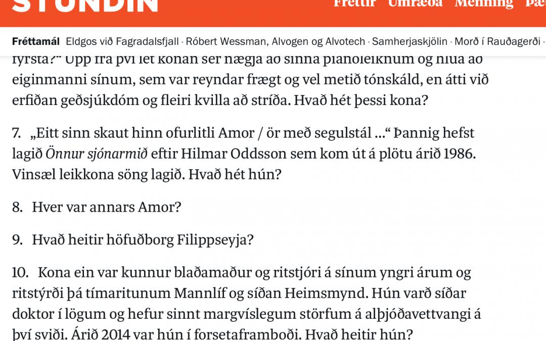 Svo því sé til haga haldið . . . spurningakeppni Illuga Jökulssonar